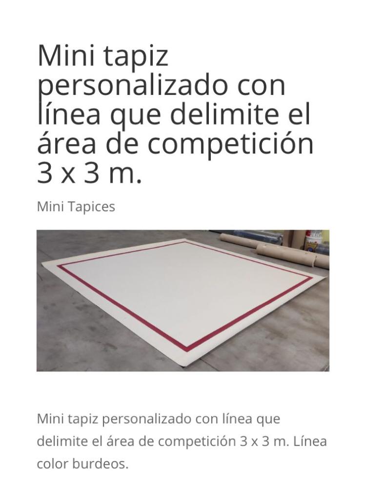 tapiz tapices minitapiz gimnasia ritmica segunda mano releve wallapop zoco